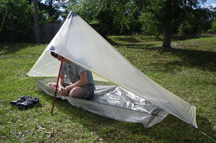 トレッキングポールをテントに使う
