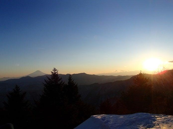 雲取山山頂からの夕日_済