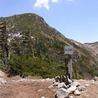 八ヶ岳登山中にある第二展望台