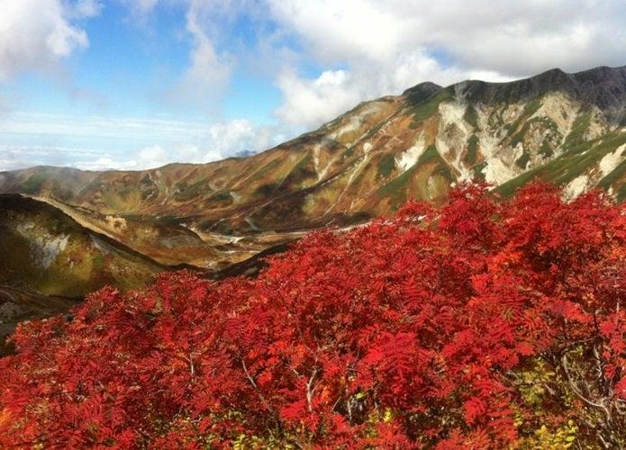 紅葉登山ができる立山