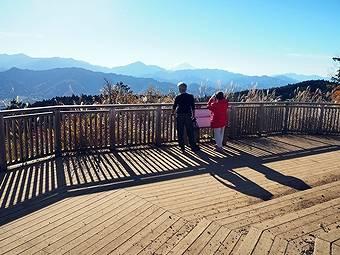 小仏峠の城山から高尾山へ行く途中には一丁平展望台がある
