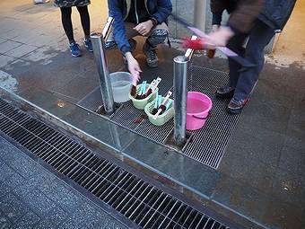 小仏峠から高尾山コースの帰りは高尾山口駅で足を洗える