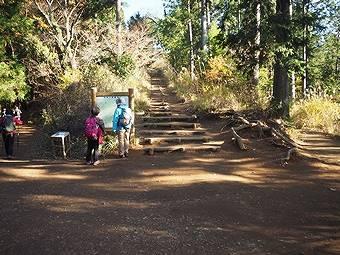 小仏峠の城山から高尾山へ行く途中分岐点3つ