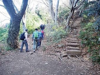 小仏峠から小仏城山へ
