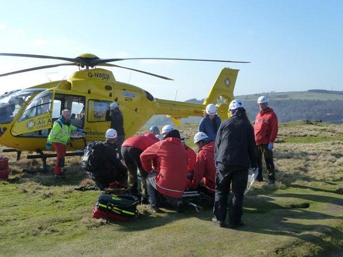 山岳保険に入っていた人の救出