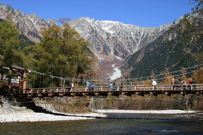 山の日に上高地の河童橋へ