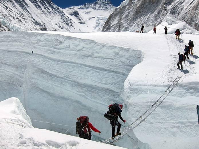 エベレスト アイスフォール通過