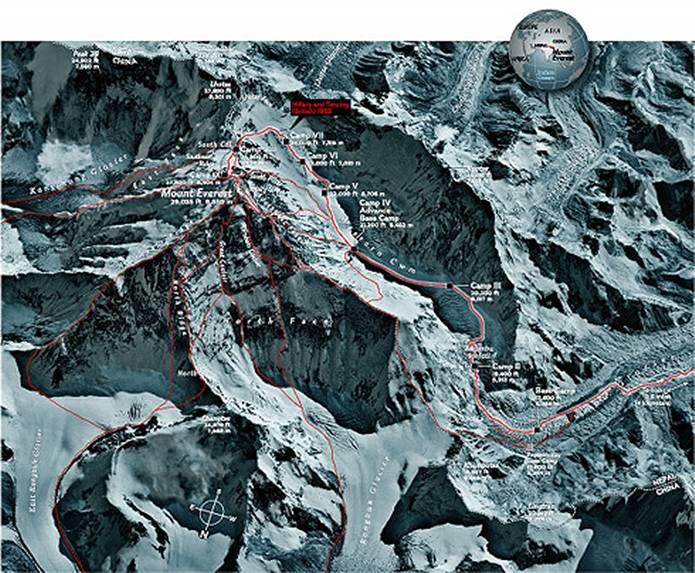 エベレスト 登山ルート