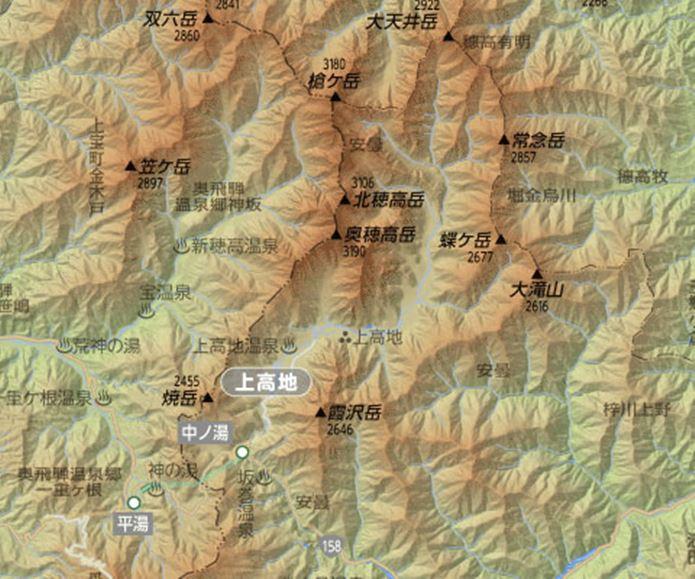 上高地の地図