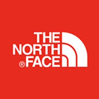 ハイキングシューズのメーカー「ノースフェイス」ロゴ