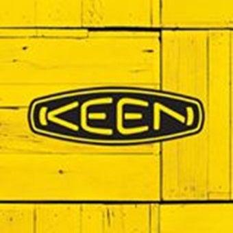 ハイキングシューズのメーカー「キーン」ロゴ