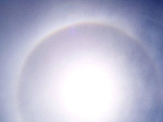 日暈の観天望気