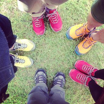 登山靴メーカー「メレル」のシューズが集まる