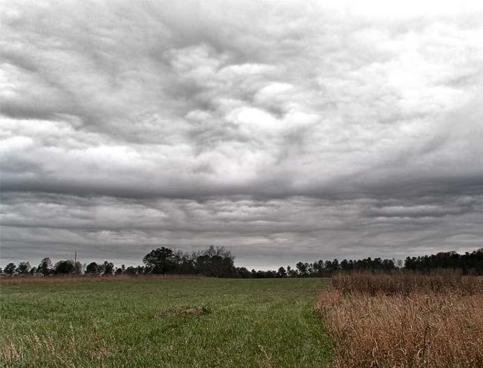乱層雲の観天望気
