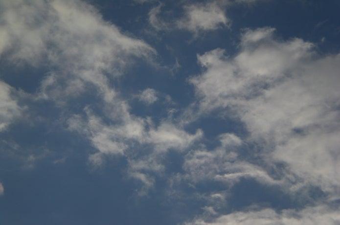 ちぎれ雲の観天望気