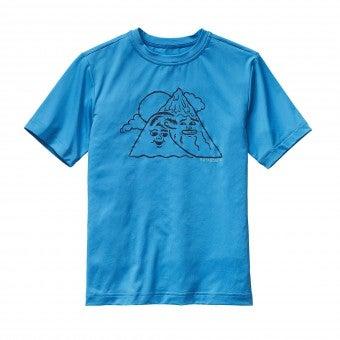 青いパタゴニアTシャツ