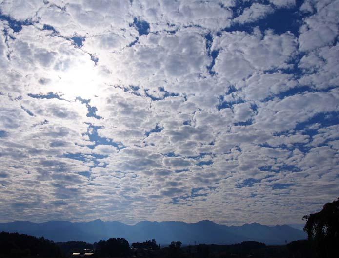 ひつじ雲の観天望気