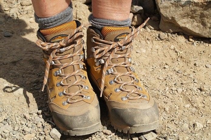 汚れた登山靴