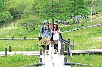 入笠山で登山トレーニングを