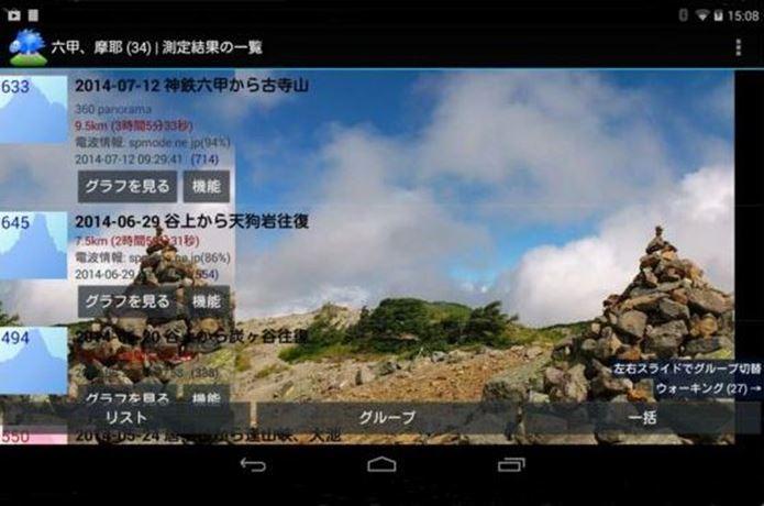登山アプリの山旅ロガー