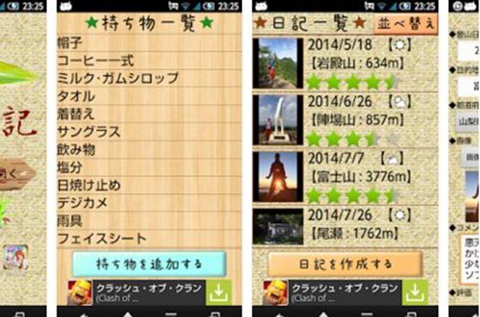 登山アプリの登山日記~二合目~