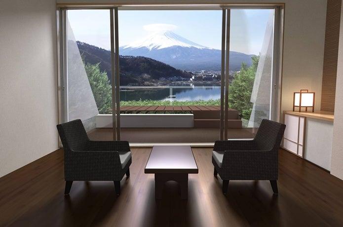 湖のホテル客室画像