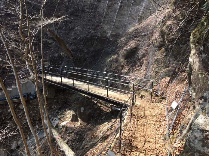 丹沢大山下山ルート橋