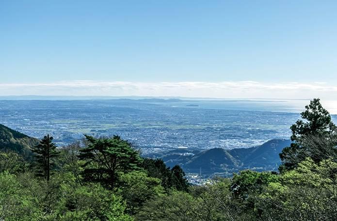 丹沢大山阿夫利神社からの眺め