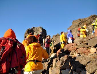 富士登山の画像