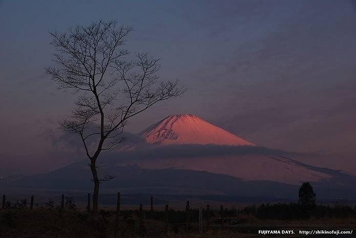 幻想的な赤富士