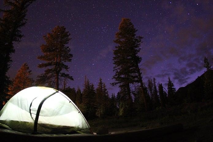 山でのテント泊