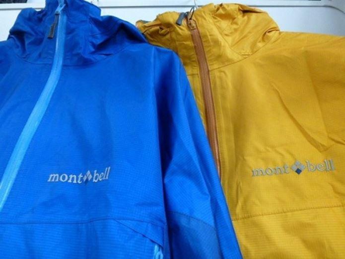 2色のモンベルのストームクルーザー