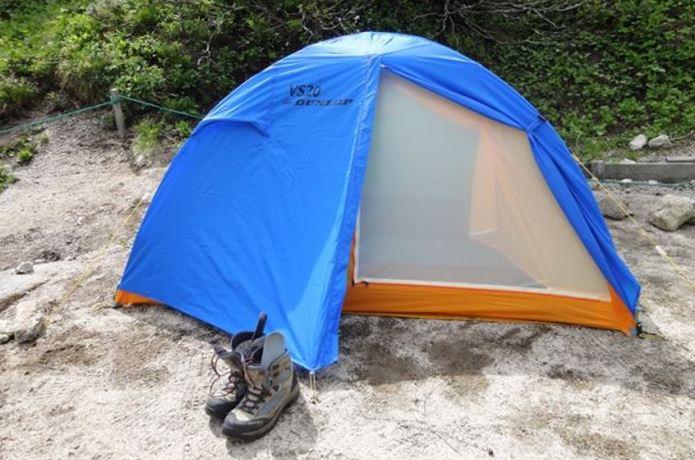 ダンロップのテントと登山靴