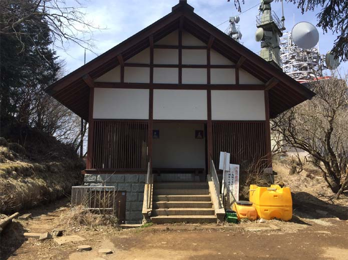 丹沢大山山頂のトイレ