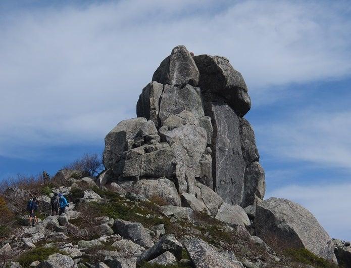金峰山の岩