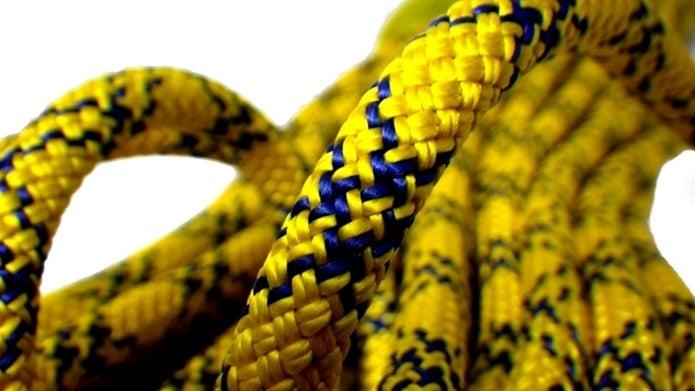 黄色いザイル
