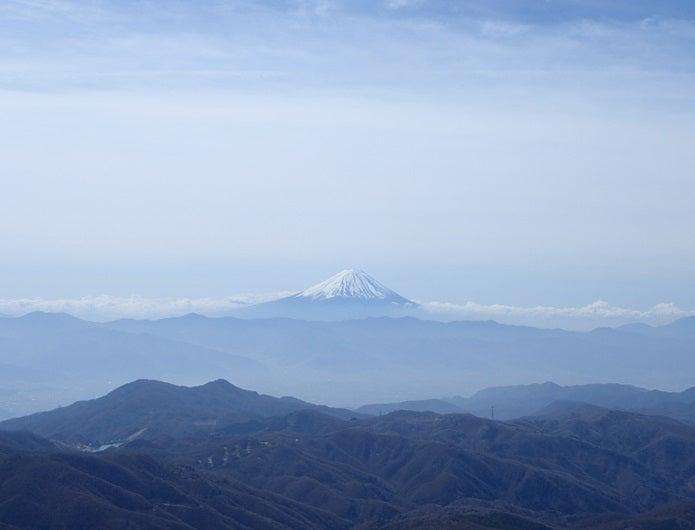 金峰山から見える富士山