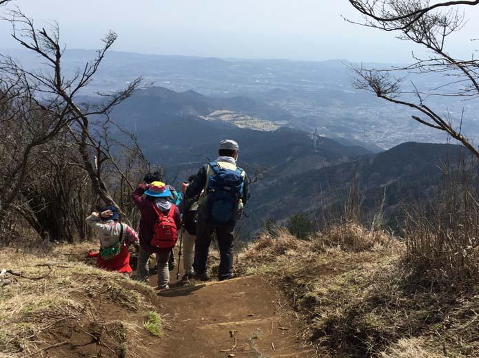 丹沢大山展望のよい下山路