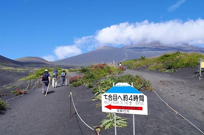 富士山御殿場ルートの標識