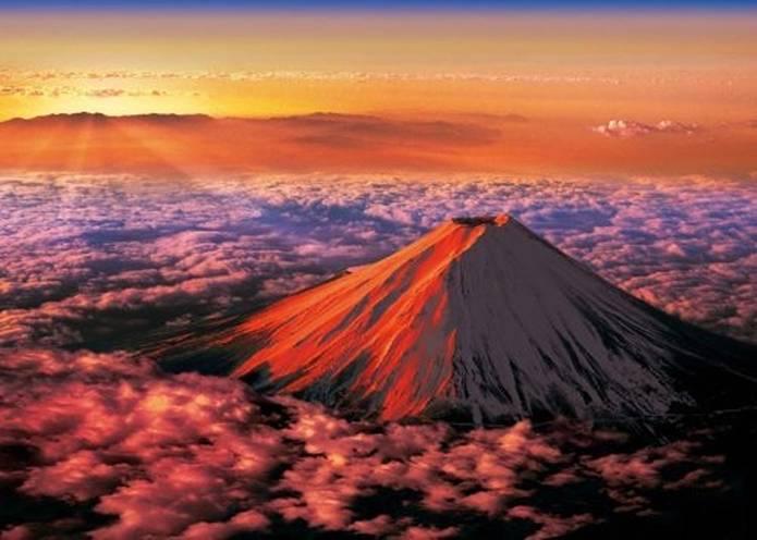 開運の赤富士