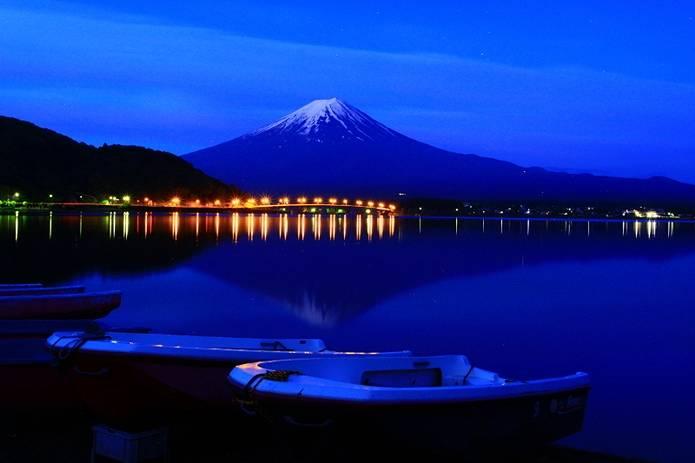 富士山 画像 静寂夜景