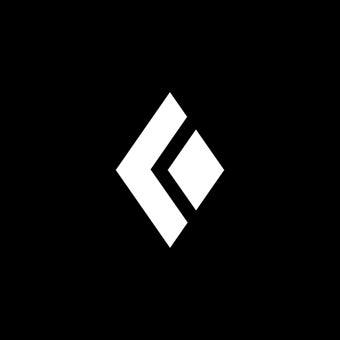 登山ブランドのブラックダイヤモンドのロゴ
