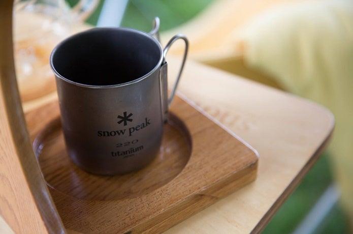 スノーピークのチタンカップ