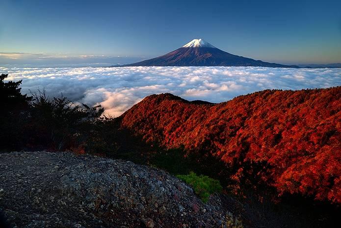 富士山 画像 三ツ峠から