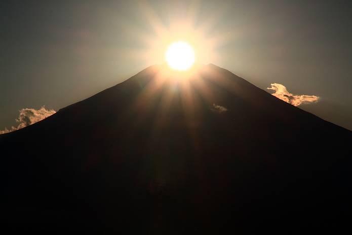 富士山 画像 大きなダイヤモンド富士