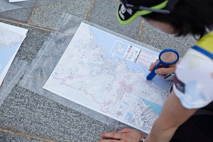 ロゲイニング前に地図をチェック