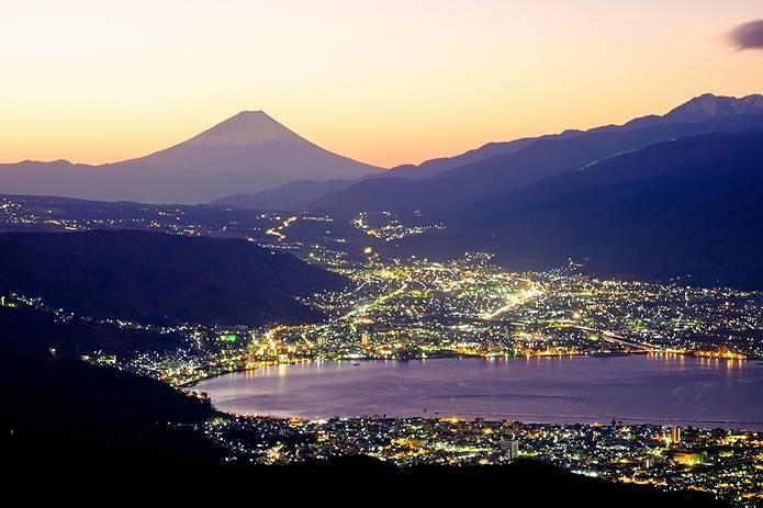 富士山 画像 夜景