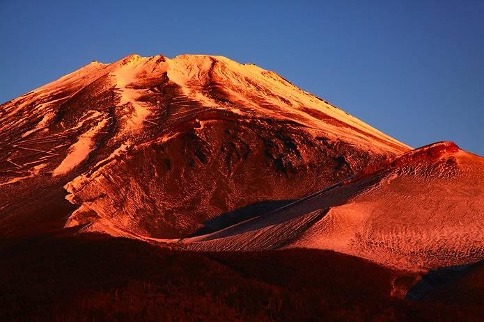 富士山 画像 夕焼けと宝永火口