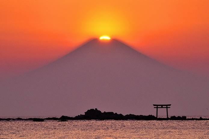 富士山 画像 葉山のダイヤモンド