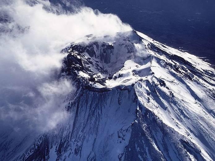 富士山 画像 火口